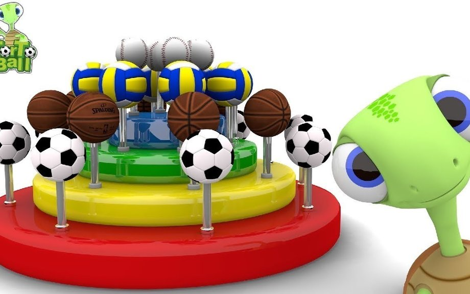 LEARN BALLS With Candy Lollipop Soccer Basketball Volleyball Baseball For Kids | Torto Bal