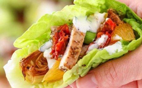Mediterranean Chicken Lettuce Wraps
