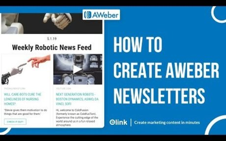How to Create Aweber Email Newsletters in Minutes
