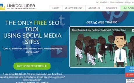 LinkCollider is the only FREE SEO tools with social media advertising to improve SEO an...