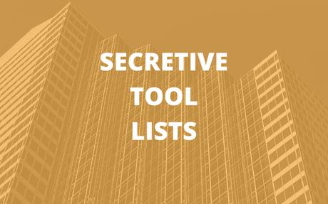 Secretive Tool Lists - Digital Marketing & Artificial Intelligence
