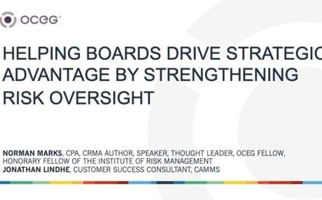 Helping Boards Drive Strategic Advantage by Strengthening Risk Oversight