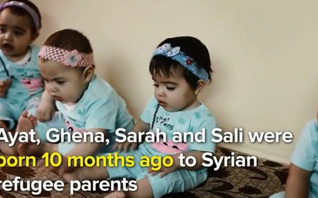 Jordan: Quadruplets a gift to Syrian refugee parents in Jordan