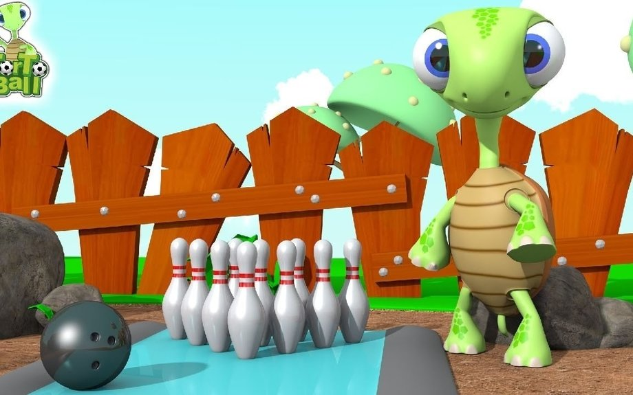 Three Turtles Were Playing Bowling For Kids and Children | TorTo Ball Official