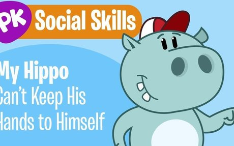 My Hippo Can't Keep His Hands to Himself! Social Skills songs for kids, learning songs for