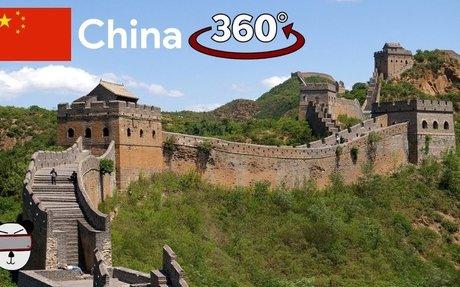 360° The Great Wall Of China (万里长城) | Mutianyu, China