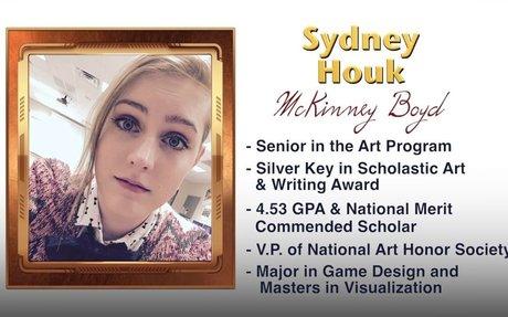 Scholar Artist of the Week - Sydney Houk