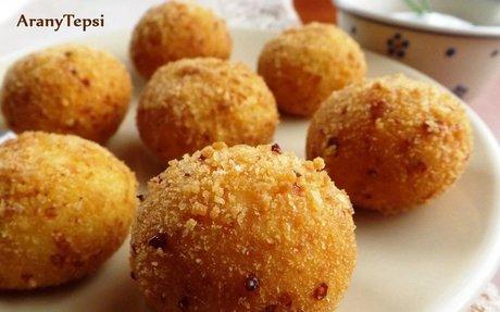 Sajtos krumpligolyó recept aranytepsi konyhájából