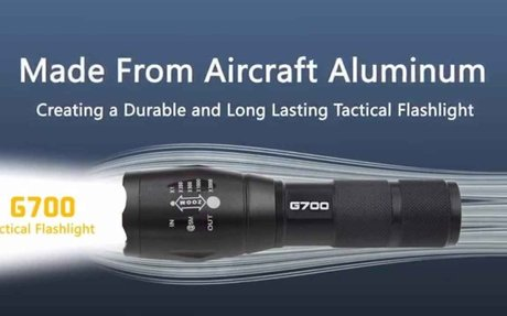 Tactical G700 flashlight Review - Alpha Male Nation