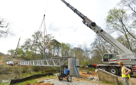 Spartanburg: Work begins on Drayton trail pedestrian bridge