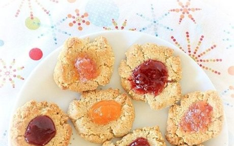 Orange Spiced Cashew Cookies w/ Jam