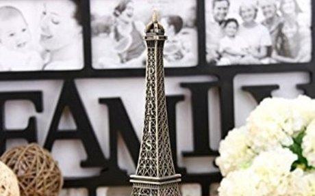 Amazon.com: Bronze Tone Paris Eiffel Tower Figurine Statue Vintage Model Decor Alloy 13cm:
