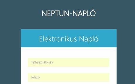 Bejelentkezés az NEPTUN-Napló 10.9 rendszerbe