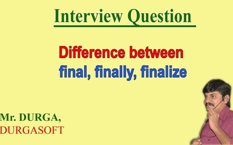 Difference between final, finally, finalize ?