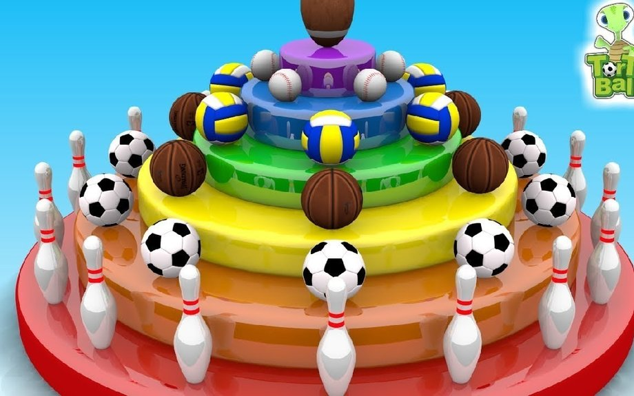 LEARN BALLS Candy Cake Turtles For Children and Kids | Torto Ball