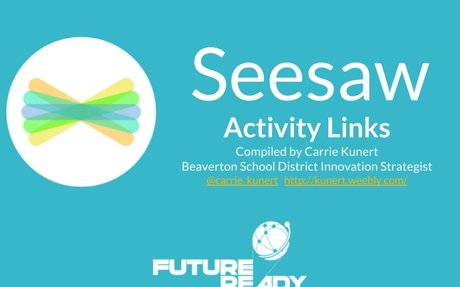 Seesaw Activities with Links