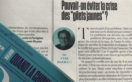 du conflit à la crise (paru dans l'Obs du 3 janvier) – Yves Halifa
