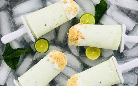 Creamy Mojito Key Lime Pie Pops