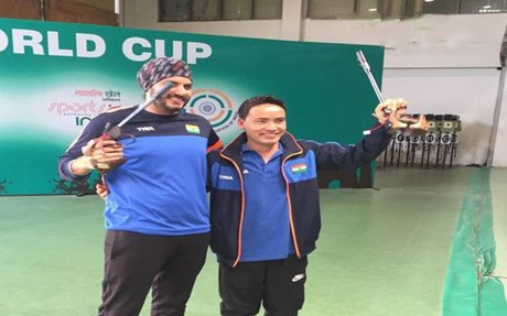 ISSF Shooting World Cup: Double delight for India as Jitu Rai clinches gold, Amanpreet Sin