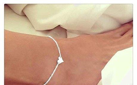 Amazon.com: Doinshop Girl Beach Foot Sandal Jewelry Fashion Simple Heart Ankle Bracelet Ch