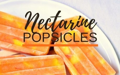 Nectarine Ice + Almond Milk Pops