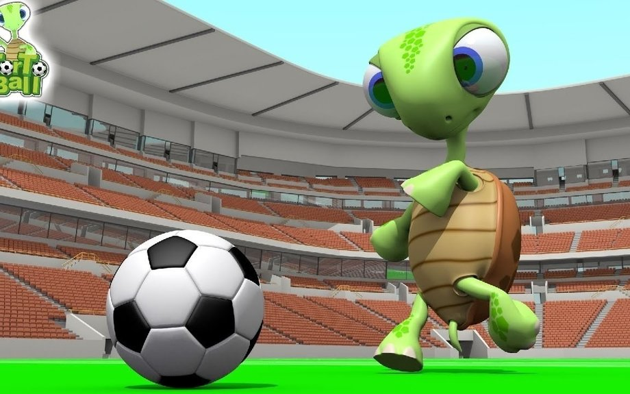 Turtles Funny Playing Soccer Cartoon Animation For Children and Kids | TorTo Ball Official