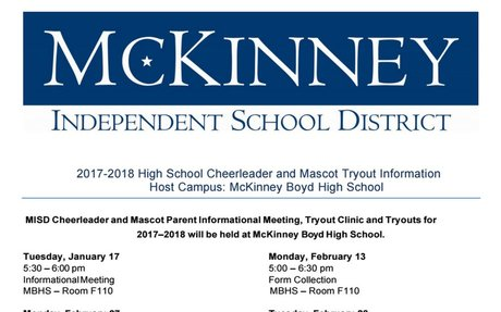 17-18 MISD High School Cheerleader and Mascot Tryout Information