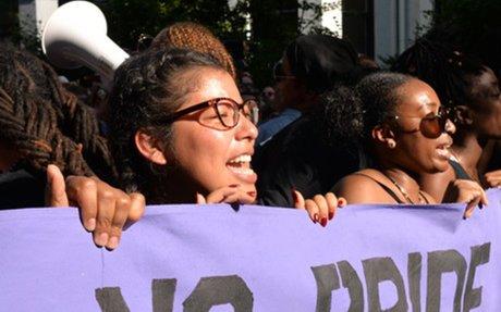 No Justice No Pride protestors disrupt Capital Pride parade