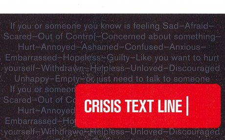Text 4Hope Crisis Hotline