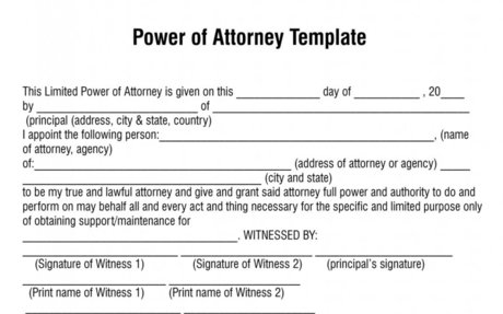Free Printable Blank Durable Power of Attorney - Free Power of Attorney Form