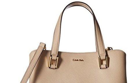 Calvin Klein Cindy Saffiano Satchel, Wheat $97.58