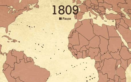 This Haunting Animation Maps the Journeys of 15,790 Slave Ships in Two Minutes