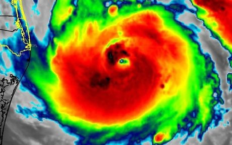 This is a forecast from Hurricane Harvey the warmer the color the worse.