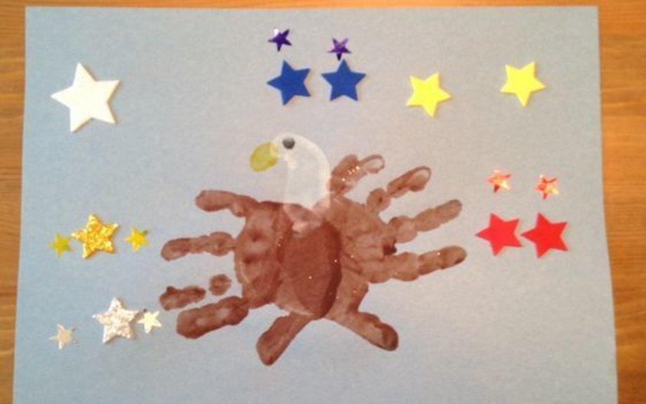 American Eagle Handprint