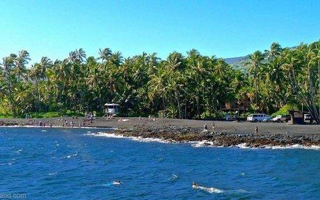 Punalu'u Black Sand Beach (Big Island): Turtles, swimming and snorkeling