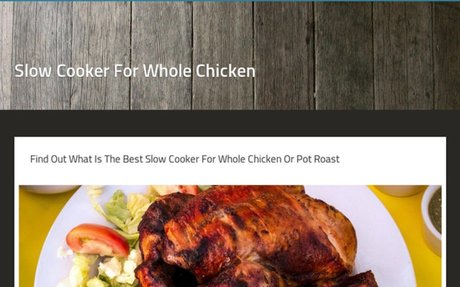 Slow Cooker For Whole Chicken