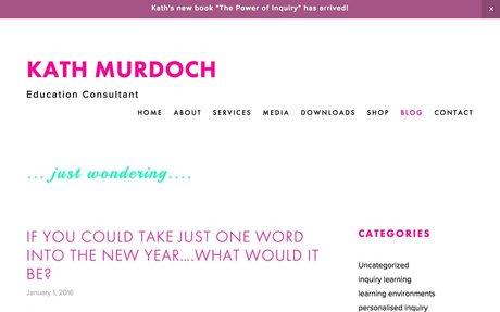 Just Wondering - A blog by Kath Murdoch