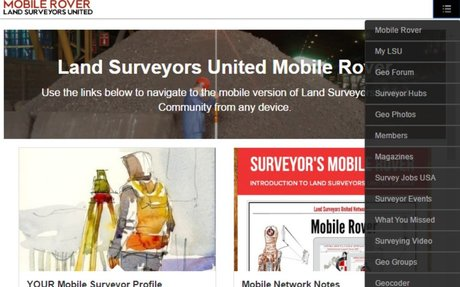 📲 Land Surveyors United Mobile Rover Guide