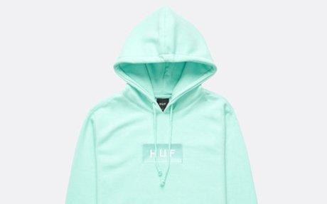 HUF Bar Logo Hoodie Celadon
