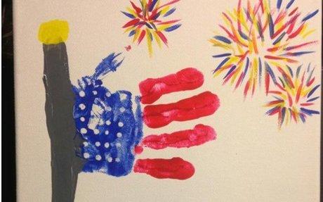 Handprint American Flag Idea