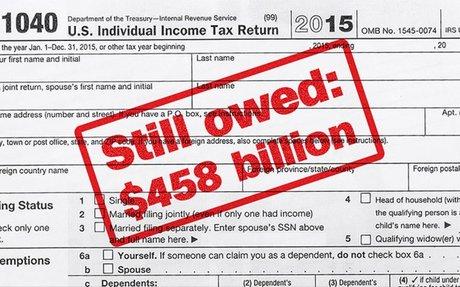 $458 billion in taxes go unpaid every year