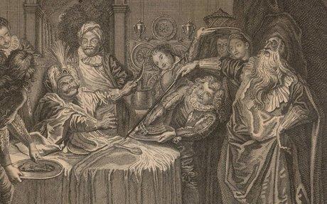La Table de Sancho Gouverneur est servie magnifiquement, mais si tost quil veut manger, le