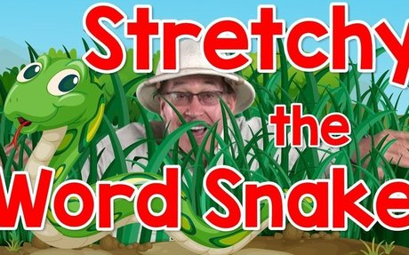 Stretchy the Word Snake   Phonics Song for Kids   Segmenting and Blending Words   Jack Har