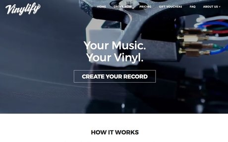 Vinylify - Create Your Own Custom Vinyl Record
