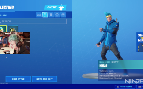 Ninja gets his own, custom Fortnite skin | Dot Esports