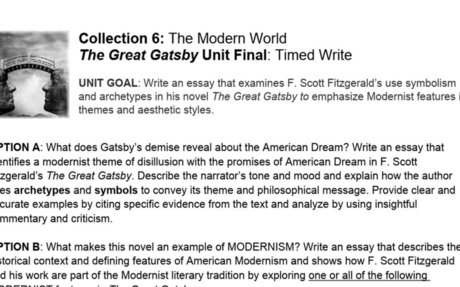 The Great Gatsby Unit Final