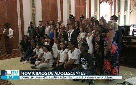 RJ2 | Autoridades criam comitê para reduzir homicídios de adolescentes | Globoplay