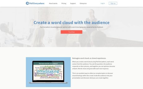 Create a word cloud with the audience