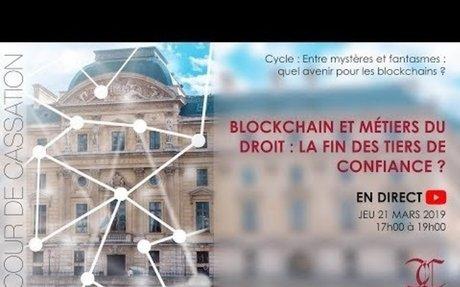 #Blockchain et métiers du droit : la fin des tiers de confiance ?