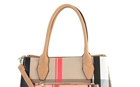 MMK collection Fashion Packlock Handbag for Women 2 in 1.  $39.99